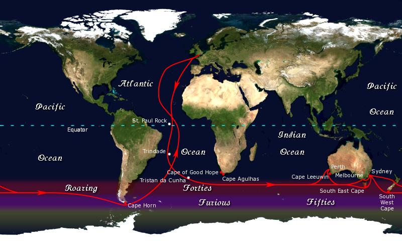 Clipper ship route