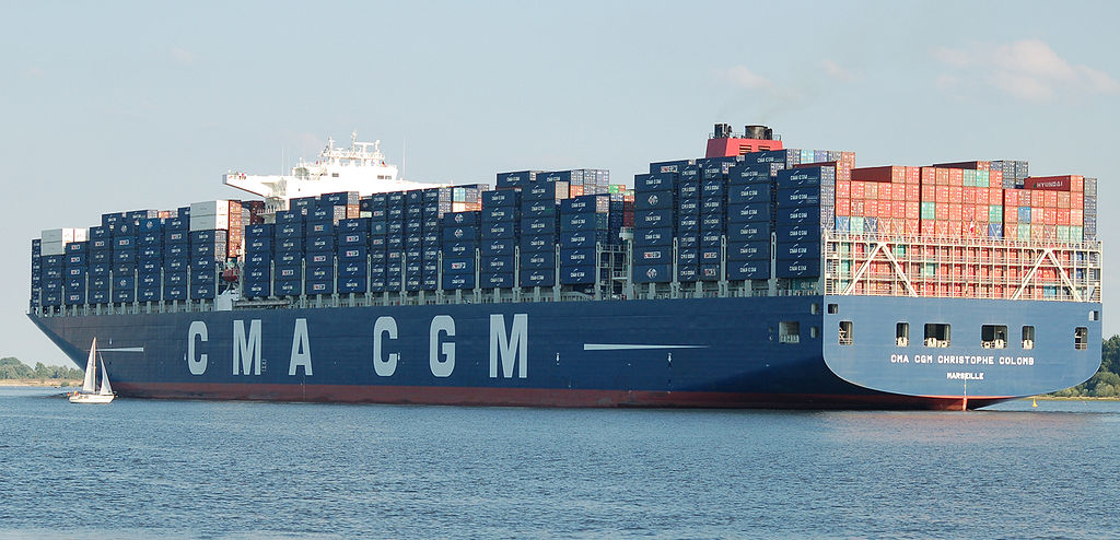 container ship Christophe Colomb