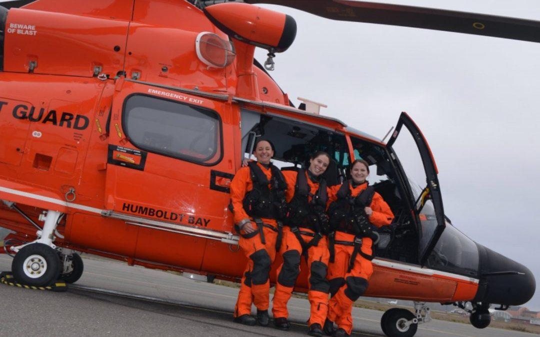USCG's first all female helicopter crew